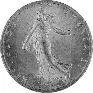 2 Franc Français 8,35g d'argent (1898 - 1920)