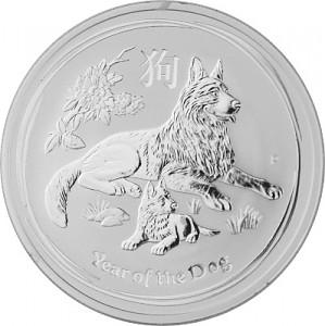 Lunar II Hund 1oz Silber - 2018