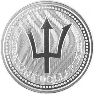 Barbados Trident 1oz Silber - 2017