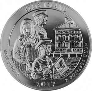 America the Beautiful - New Jersey Ellis Island 5oz d'argent fin - 2017