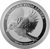 Kookaburra 1kg Silber - 2018