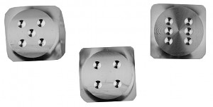 Cubes en argent - Fabrication CNC - Argent sterling 925 en argent sterling 3x25g