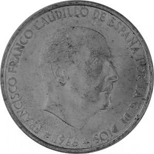 100 PTS Spanien 15,2g Silber - 1966