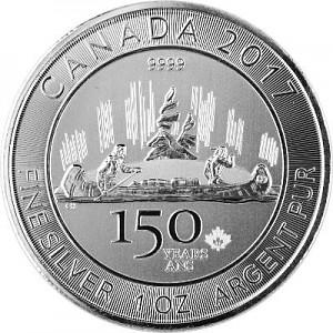 Kanada 150 Jahre Voyageur 1oz Silber - 2017