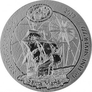 Ruanda Nautical Serie - Santa Maria 1oz Silber - 2017