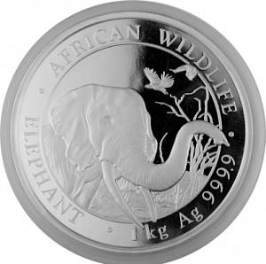 Somalia Elefant 1 kg Silber - 2018