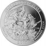 America the Beautiful - Indiana George Rogers Clark 5oz Silber - 2017