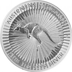 Australian Kangaroo 1oz Silver - 2018