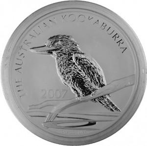 Kookaburra 10oz Silber - 2007
