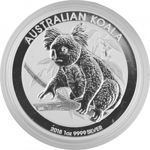 Koala 1oz d'argent fin - 2018