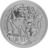 Ruanda Giraffe 1oz Silber - 2018