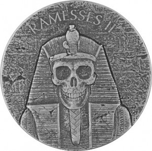 Republic of Chad Ramses II after living 2oz Silver - 2017