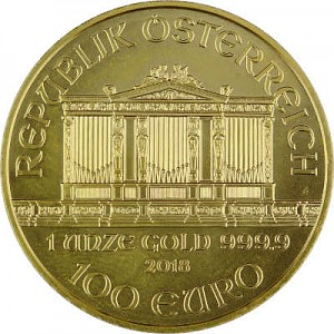 Philharmonique de Vienne 1oz d'or fin - 2018