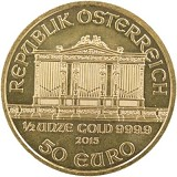 Wiener Philharmoniker 1/2oz Gold