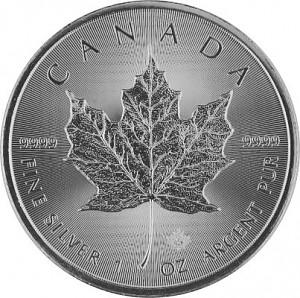 Maple Leaf 1oz Silber - 2018