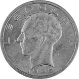50 Franc Belgien Leopold III 16,64g Silber 1939 - 1940