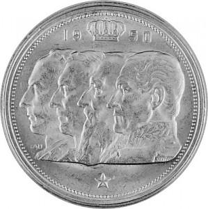 100 Franc Belgien 15,03g Silber 1948 - 1954