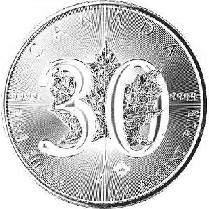 Maple Leaf 1oz Silber - 2018 Jubiläumsausgabe 30 Jahre