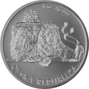 Niue Tschechischer Löwe 1oz Silber - 2017