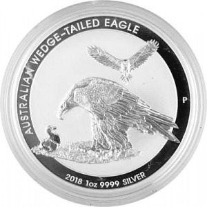 Australian Wedge Tailed Eagle 1oz Silver - 2018