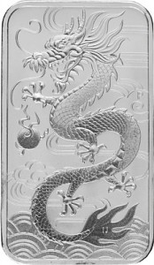 Perth Mint Rectangular Dragon 1oz Silver - 2018