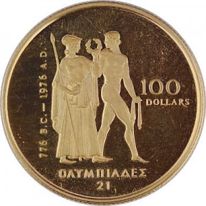 100 Dollar Kanada Olympic 1/2oz Gold Proof Coin - ohne Box