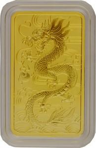 Perth Mint Rectangular Dragon 1oz Gold - 2018