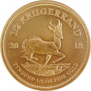 Krugerrand 1/2oz Gold - 2018