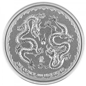Niue Double Dragon 1oz Silber - 2018