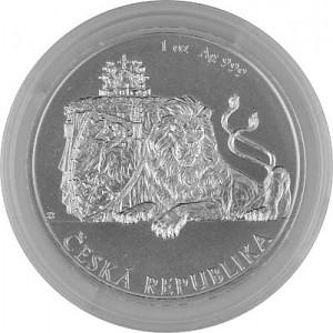 Niue Tschechischer Löwe 1oz Silber - 2018