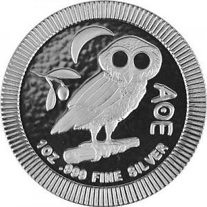Niue Athènes hibou - 1oz d'argent fin - 2018