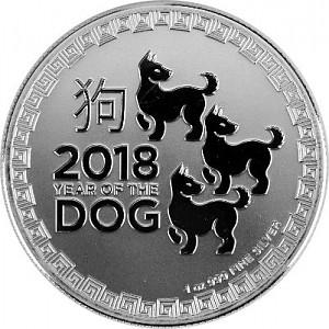 Niue Hund 1oz Silber - 2018