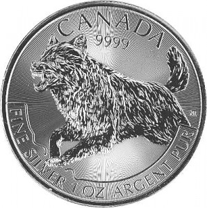 Maple Leaf - Wolf 1 oz Silber - 2018
