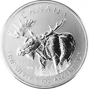 Canadian Wildlife Moose 1oz Silver - 2012