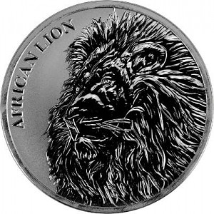 Afrika Tschad Löwe 1oz Silber - 2018