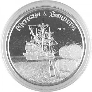 Antigua & Barbuda Rum Runner 1oz Silber - 2018