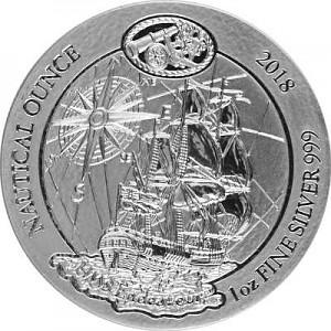 Série nautique du Rwanda - HMS Endeavour 1oz d'argent fin - 2018