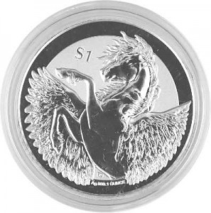 Pegasus - Reverse Frosted 1oz Silber - 2018