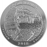 America the Beautiful - Wiconsin Apostle Islands 5oz Silber - 2018