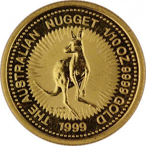 Kangourou Australien 1/10oz d'or fin - 1999