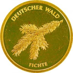 20 Euro Deutscher Wald Fichte 3,88g Gold - 2012