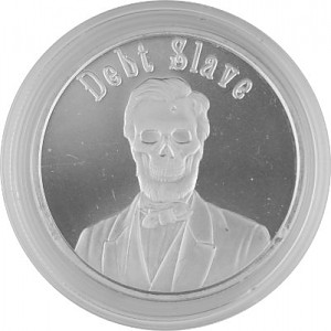 Debt Slave Round USA Mini Mintage 1oz Silber - 2017