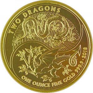 Two Dragons United Kingdom 1oz Gold - 2018