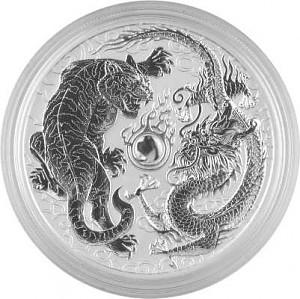 Drache und Tiger 1 oz Silber - 2018