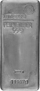 Silver Bar 5kg Silver - Reseller