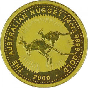 Australian Kangourou 1/4oz d'or fin - 2000