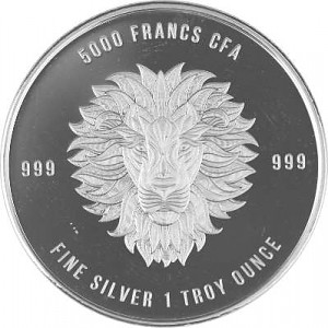Republic of Chad Mandala Lion 1oz Silver - 2018