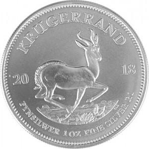 Krugerrand 1oz Silver - 2018