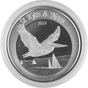 St. Kitts & Nevis - Pelikan 1oz Silber - 2018