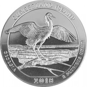 America the Beautiful - Georgia Cumberland Island National 5oz Silber - 2018